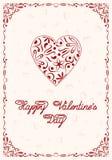 Счастливый шаблон поздравительной открытки дня валентинок Стоковое Фото