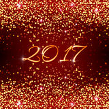 Счастливый шаблон праздника вектора Нового Года 2017 Стоковые Изображения