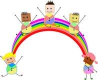 Счастливый шарж детей Стоковое Изображение RF
