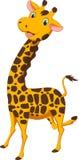 Счастливый шарж жирафа Стоковое Изображение