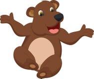 Счастливый шарж коричневого цвета медведя Стоковая Фотография