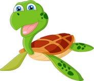 Счастливый шарж морской черепахи Стоковые Изображения