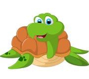 Счастливый шарж морской черепахи Стоковое Изображение RF