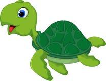 Счастливый шарж морской черепахи Стоковые Изображения RF