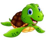 Счастливый шарж морской черепахи Стоковое Фото