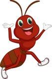 Счастливый шарж муравья Стоковая Фотография