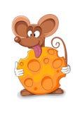 Счастливый шарж мыши - иллюстрация вектора Стоковые Фото