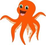Счастливый шарж осьминога Стоковая Фотография