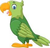 Счастливый шарж попугая иллюстрация штока