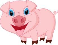 Счастливый шарж свиньи Стоковое Фото