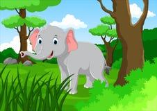 Счастливый шарж слона Стоковое Фото
