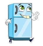 Счастливый шарж холодильника Стоковые Изображения