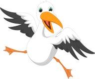 Счастливый шарж чайки Стоковые Фото