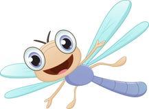 Счастливый шарж dragonfly Стоковые Изображения