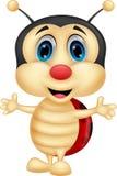 Счастливый шарж ladybug Стоковая Фотография RF