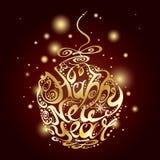 Счастливый шарик рождества Нового Года Стоковая Фотография