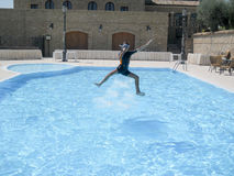 Счастливый шлямбур воды Стоковое Изображение RF