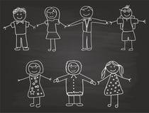 Счастливый эскиз детей Стоковое Изображение