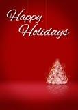 Счастливый этап предпосылки карточки дерева 3D праздников Стоковое Фото