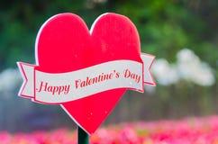 Счастливый ярлык дня валентинок Стоковое фото RF