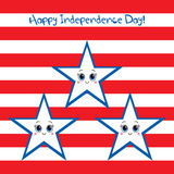 Счастливый День независимости США! Поздравительная открытка Стоковые Фото