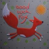 Счастливый Fox бежит Стоковые Фотографии RF