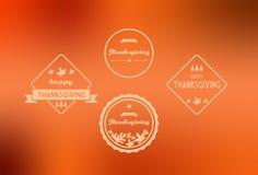 Счастливый VOL. знамен благодарения 2 Стоковые Изображения RF
