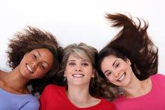 3 счастливых девушки Стоковая Фотография