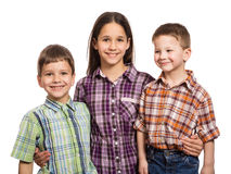 3 счастливых дет совместно Стоковое Фото
