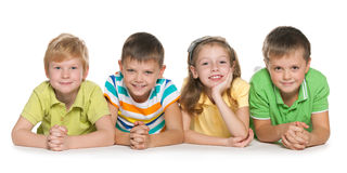 4 счастливых дет Стоковые Изображения