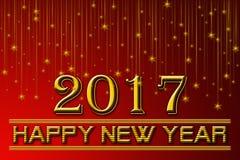 2017 счастливых Новых Годов предпосылки красного цвета Стоковые Фотографии RF