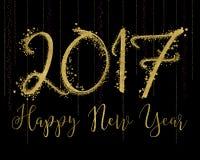 2017 счастливых Новых Годов иллюстрация штока