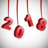 2018 счастливых Новых Годов Стоковое фото RF