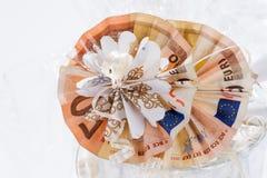 2 50 счета евро сложенного в круглой форме Стоковые Изображения RF