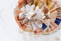 2 50 счета евро сложенного в круглой форме Стоковое Изображение