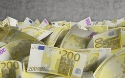 200 счетов евро Стоковые Изображения