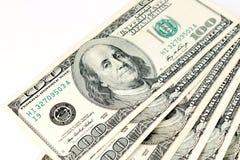 100 счетов доллара Стоковое Изображение