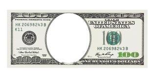 100 счетов долларов без стороны, пути клиппирования Стоковые Изображения RF