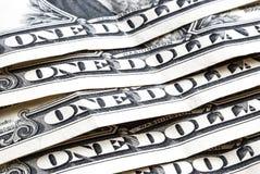 5 счетов одн-доллара, с ` надписи одно ` доллара Стоковое Фото