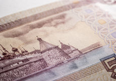100 счетов рубля, старая церковь Стоковое Фото