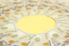 100 счетов США доллара Стоковое Фото