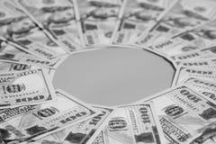 100 счетов США доллара Стоковые Изображения