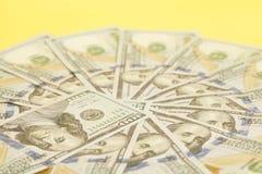 100 счетов США доллара Стоковое Изображение