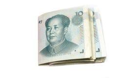 10 счетов юаней, деньги Китая Стоковое Фото
