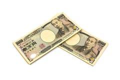 10 счетов японских иен тысяч Стоковая Фотография
