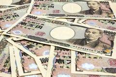 10 счетов японских иен тысяч Стоковые Изображения RF