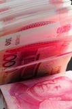 100 счетов Renminbi Стоковое Изображение