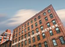 Счетчик воды Томпсона строя в NYC стоковая фотография rf