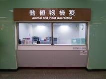 Счетчик карантина животного и растения внутри Тайбэя Songshan Airpo стоковые фото