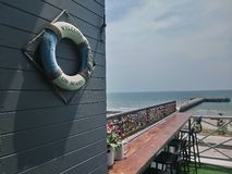 счетчик моря на открытом воздухе стоковые фото